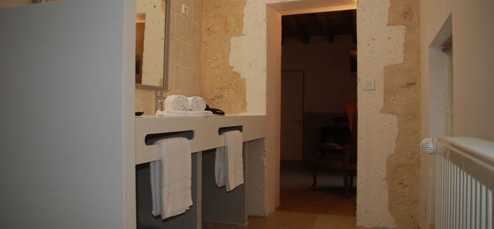 Champ Fleuri Chambres d'hôtes angoulême charente - Chambre Métisse - Double Vasque